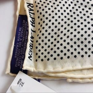 Ralph Lauren Silk Pocket Square NWT
